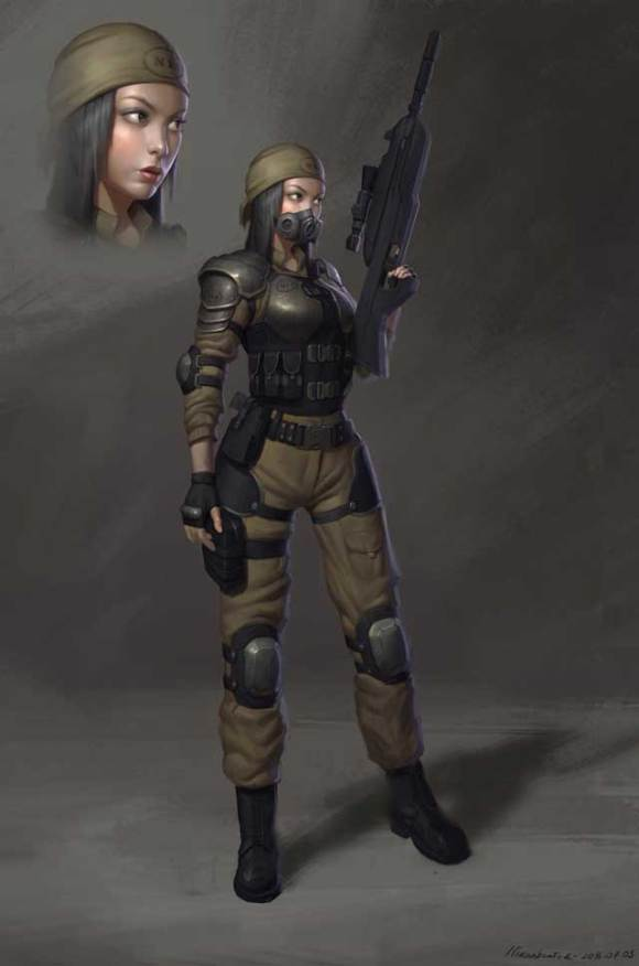 Soldier girl by Naranb on DeviantArt