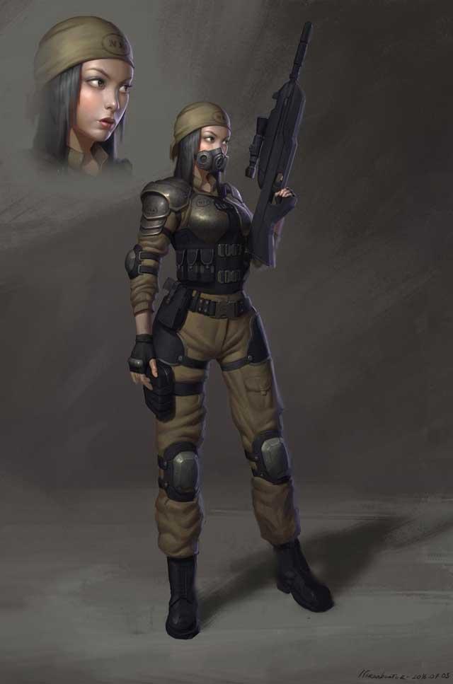 Soldier girl by Naranb on DeviantArt