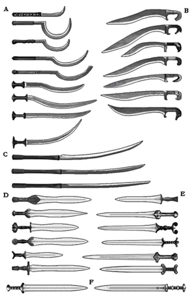 armes diverses de l'age de bronze