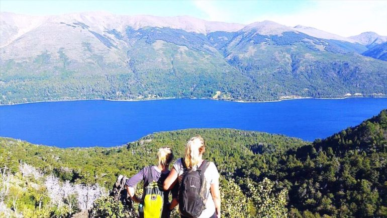 hiking in Bariloche - On the way to Refugio Frey