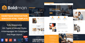 Boldman - Handyman Renovation Services HTML Template