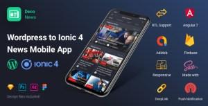 News déco - ionique 4 App Mobile pour Wordpress, angulaire 7, Sass, Firebase, AdMob, OneSignal