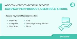 Passerelle de paiement conditionnel WooCommerce par produit, rôle d'utilisateur et plus