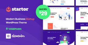 Startor - Modern Business Startup WordPress Theme