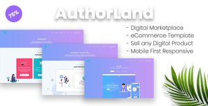 AuthorLand - Digital Marketplace eCommerce Template