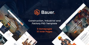 Bauer - Construction PSD Template