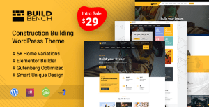Buildbench - Construction Building WordPress Theme