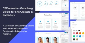 CPElementia - Gutenberg Blocks for Site Creators