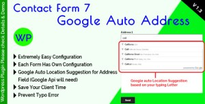 Contact Form 7 Google Auto Address Suggestion