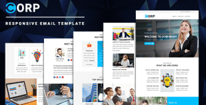 Corp - Multipurpose Responsive Email Template with Online StampReady Builder & Mailchimp Editor