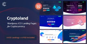 Cryptoland - WordPress ICO Landing Pages Cryptocurrency Theme Pack