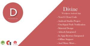 Divine-WordPress app Android avec AdMob & Onesignal notification push