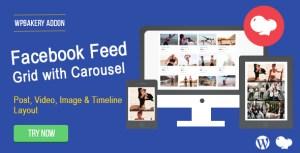 Flux Facebook: Post, Photo, vidéo et montage pour WPBakery Page Builder