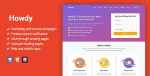 Howdy - Multipurpose High-Converting Landing Page WordPress Theme