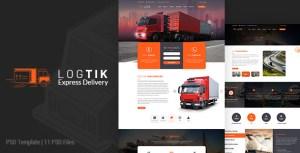 Logtik   Logistics PSD Template