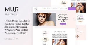 Muji | Beauty Shop & Spa Salon WordPress Theme