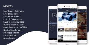 Newsy-Full vedette Native WordPress App