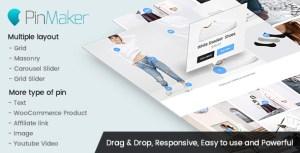 Pin Maker-affichage pin sur l'image en tant que texte, icône ou produit WooCommerce