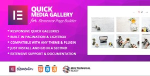 Quick Gallery Addon pour Elementor Page Builder