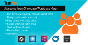 TeamPress-plugin Team Showcase