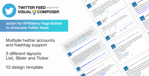 Twitter feed Addon pour Visual composer-WPBakery Twitter Addon pour WordPress