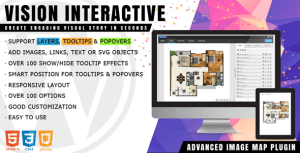 Vision interactive-image map Builder pour WordPress