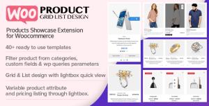 WOO produit grille/liste Design-Responsive produits vitrine extension pour Woocommerce