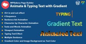 WPBakery Page Builder d'animation texte et taper effet avec dégradé