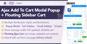 WooCommerce AJAX Add To Cart + Floating Cart | Popup Modal + Sidebar
