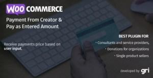 WooCommerce formulaire de paiement Creator & Pay comme montant entré