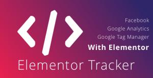 WordPress Elementor Tracker - voie Analytique événements à l'aide de Elementor