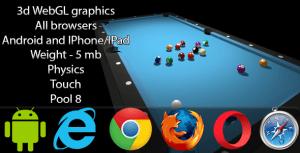 3D WebGL Billiards Pool 8