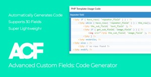 Advanced Custom Fields - Code Generator