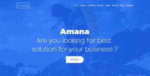Amana - Multipurpose HTML5 Onepage Template