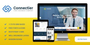 Connectier - Business PSD Template