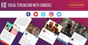 Elementor Page Builder - Social Stream Grid With Carousel