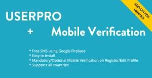 Free Mobile Verification Addon for UserPro