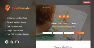 LeadEducate - Education Unbounce Landing Page Template