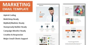 Marketing - Multipurpose Responsive Email Template with Online StampReady & Mailchimp Builders