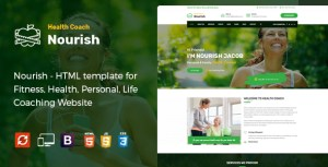 Nourish - HTML Template for Personal Life Coaching Website