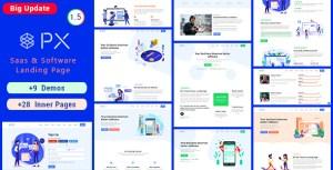 PXsaas - Saas & Software Landing Page