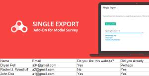 Single Export - Modal Survey Add-on
