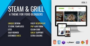 Steam & Grill - Responsive E-commerce Theme For Food Bloggers (now at version 2.0)
