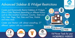 WordPress Sidebar and Widgets Visibility   Create Sidebar, Hide Sidebar and Hide Widgets