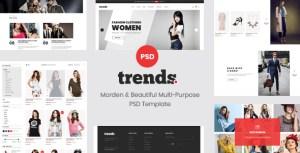 trends - Multipurpose Ecommerce PSD Template