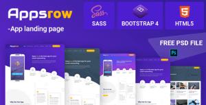 Appsrow App Landing HTML Template
