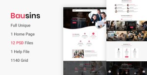 Bausins - Business Website PSD Template