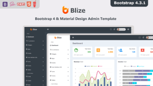 Blize - Bootstrap 4 Material Design Admin Dashboard Template