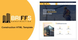 Briffs - Construction HTML Template