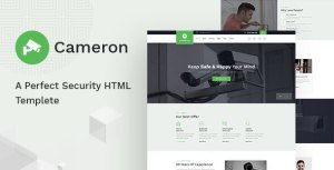 Cameron - Home Automation, CCTV, Security HTML Template